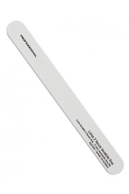 Pilník na nehty rovný BÍLÝ hrubost 400/400, omyvatelný