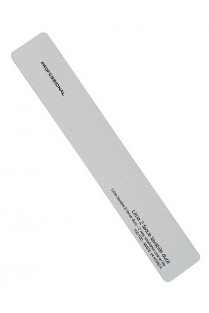 Pilník na nehty obdélník ŠEDÝ hrubost 100/100, omyvatelný