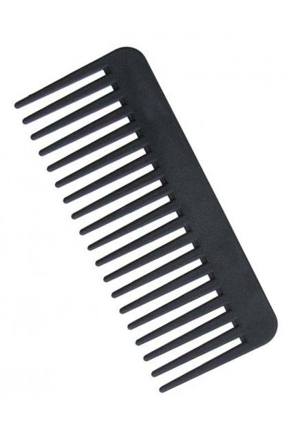 Hřeben rozčesávací široký vysoký černý, antistatický 16cm