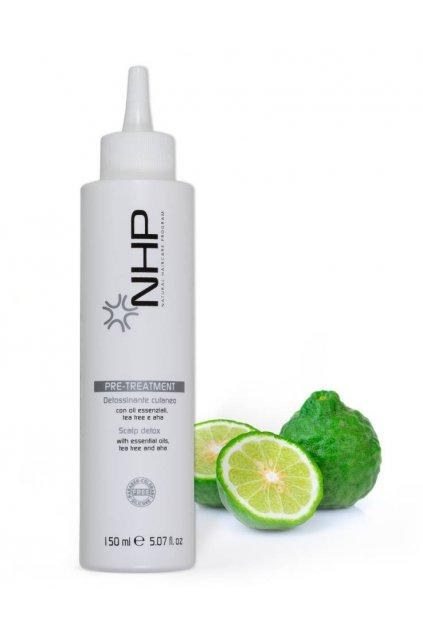 NHP DETOX Sérum čistící peeling pro vlasovou pokožku s alfa hydrokyselinami 150ml