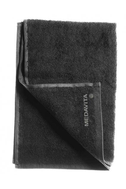 Medavita Ručník froté černý 100% bavlna, 50x90cm 350g