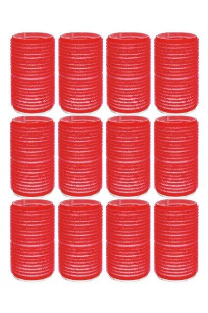 Natáčky suchý zip průměr 36mm červené Xanitalia 12ks