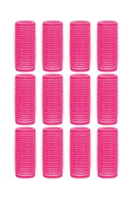 Natáčky suchý zip průměr 25mm růžové Xanitalia 12ks