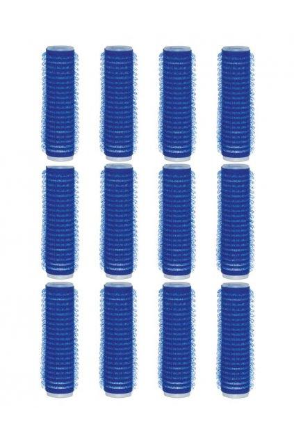 Natáčky suchý zip průměr 15mm modré tmavé Xanitalia 12ks