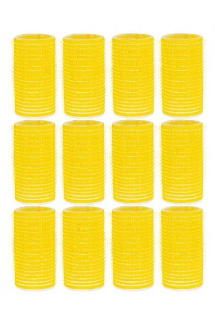 Natáčky suchý zip průměr 32mm žluté Xanitalia 12ks