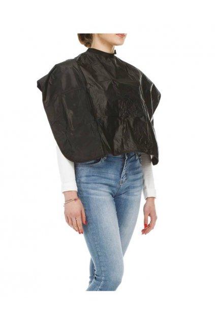 Plášť na barvení krátký 70x95cm pogumovaný černý Xanitalia