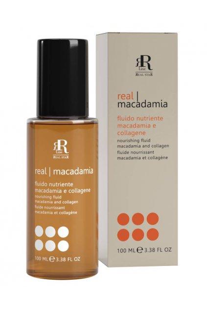 RR Line MACADAMIA STAR Fluid vyživující namáhané a matné vlasy, brání třepení a krepatění vlasů