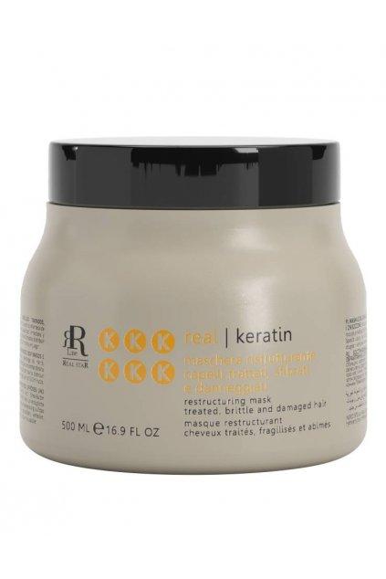 RR Line KERATIN STAR Maska obnovující namáhané, oslabené a zničené vlasy