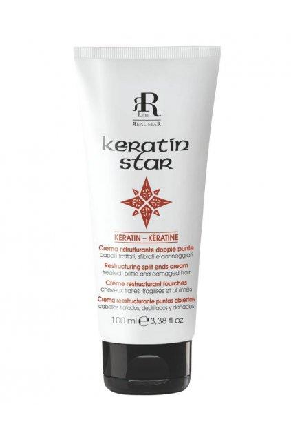 RR Line KERATIN STAR Krém obnovující roztřepené konečky a zničené vlasy 100ml