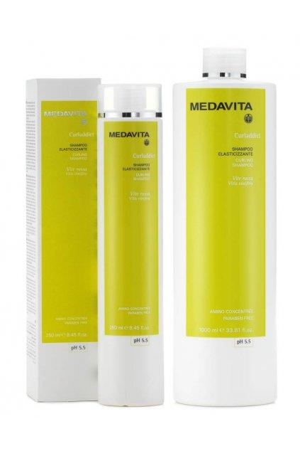 Medavita CURLADDICT Šampon pro kudrnaté a husté vlasy s výtažky vinné révy