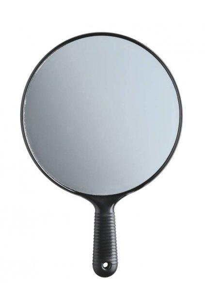 Zrcadlo jednostranné černé kulaté s ručkou průměr 19,5cm