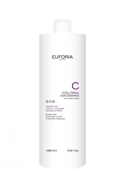 Euforia COLORIA Šampon pro barvené vlasy, ochranný s ovocnými kyselinami 1000ml