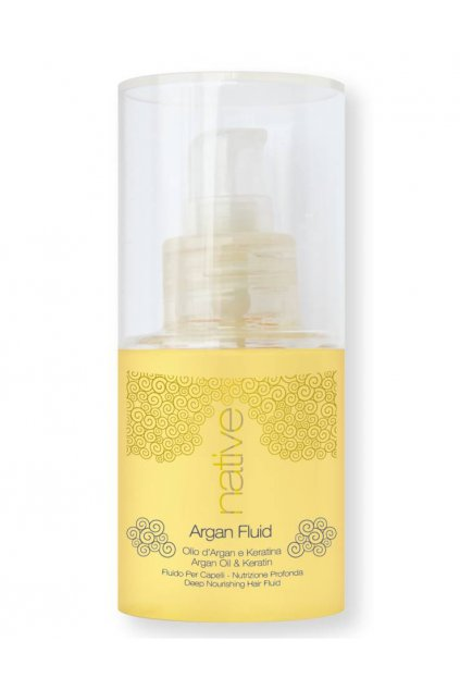 Native Elixír Argan Fluid s arganovým olejem a keratinem, bez zatížení 75ml