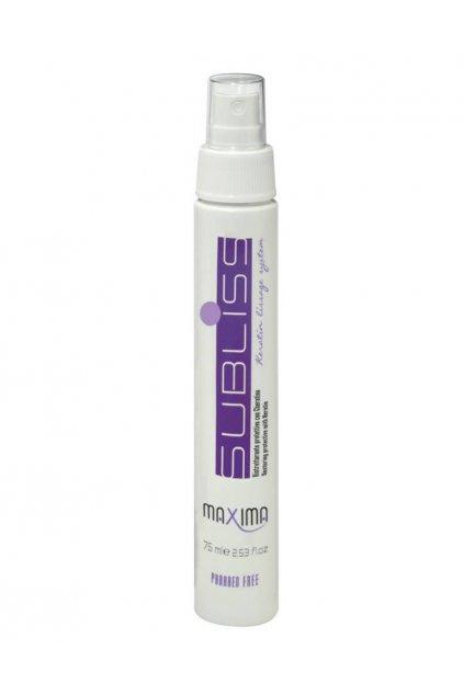 Maxima SUBLISS Sprej pro hladké vlasy s keratinem, obnova, objem, ochrana před teplem 75ml