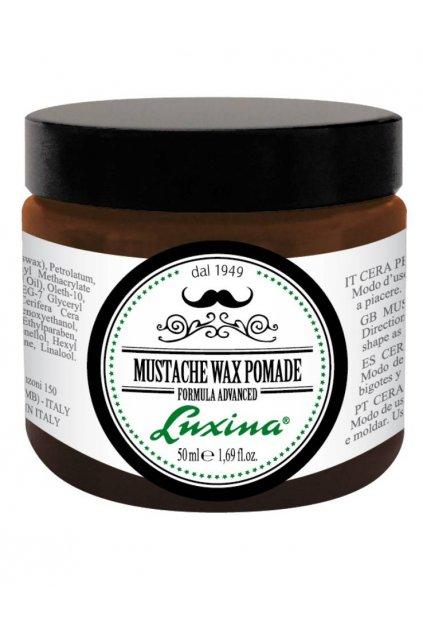 Luxina MUSTACHE WAX POMADE vosk pro vousy, kvalitní přirozené zpevnění 50ml