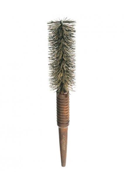 Kartáč kulatý úzký přírodní štětiny průměr 30mm, dřevěná špičatá ručka