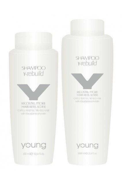 Young Y-REBUILD Šampon obnovující s makadamiovým olejem a keratinem