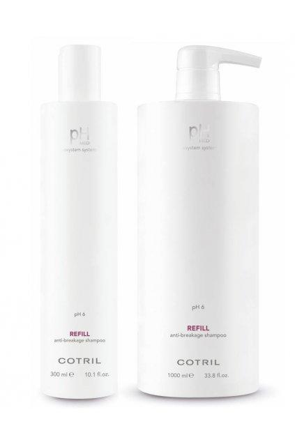 Cotril pH MED REFILL Šampon posiluje křehké a ztenčené vlasy, proti lámání