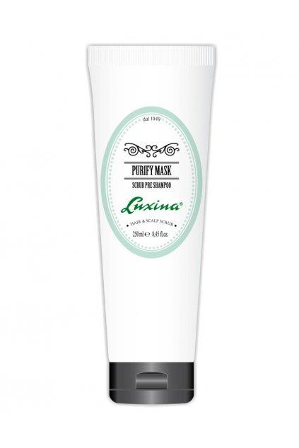 Luxina MASKA PURIFY před šamponem, proti lupům s regulací kožního mazu 250ml