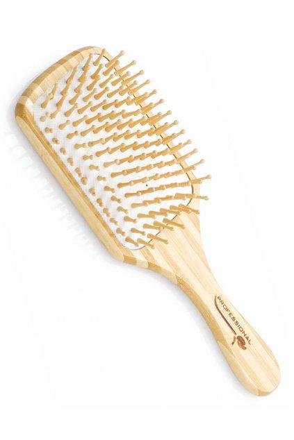 Kartáč Spa beauty na vlasy velký dřevěný obdélník, dřevěné masážní trny