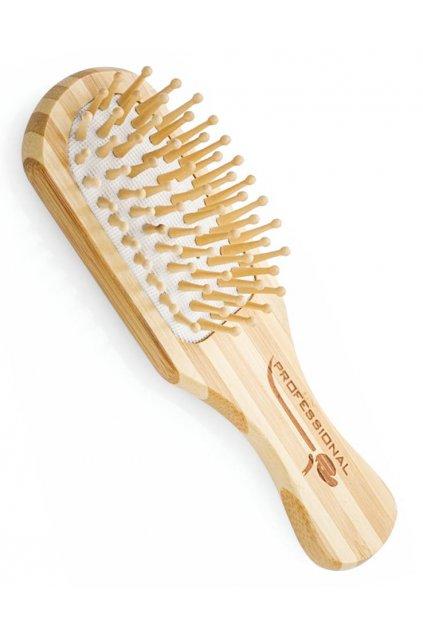 Kartáč Spa Beauty na vlasy malý dřevěný, dřevěné masážní trny