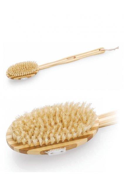 Spa beauty Masážní kartáč dřevěný dlouhá rukojeť, se štětinami