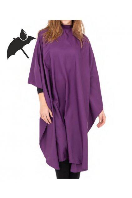 Kadeřnický plášť COMFORT PRO fialový na stříhání voděodolný a odolný proti opotřebení, na cvočky 130x150cm
