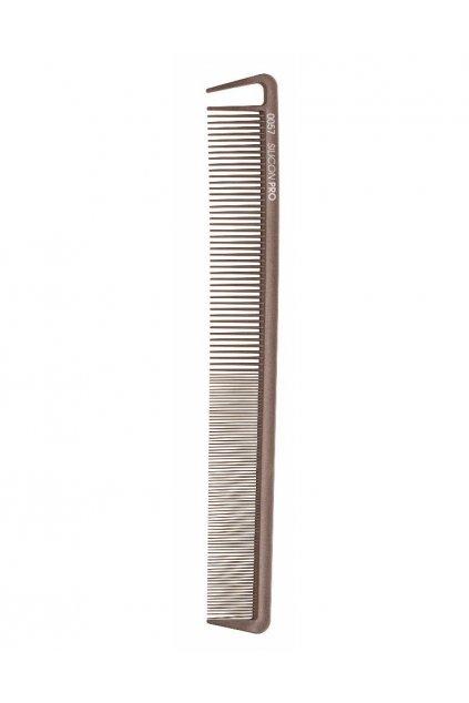 Hřeben Silicon PRO 0057 extrémně odolný, dlouhý řídký/hustý, vybírací zub 22,2cm