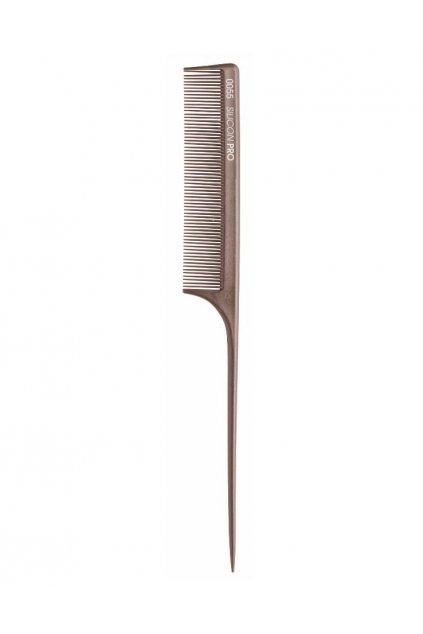 Hřeben Silicon PRO 0055 extrémně odolný, hustý, tupírovací, tvrzená špička 21,4cm