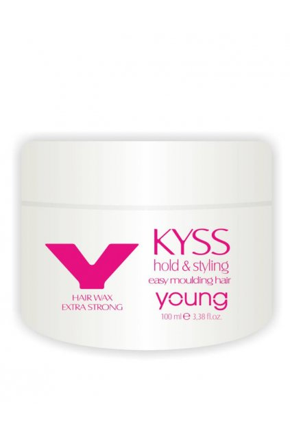 Young KYSS Vosk extra silný modelovací, na mokré i suché vlasy 100ml
