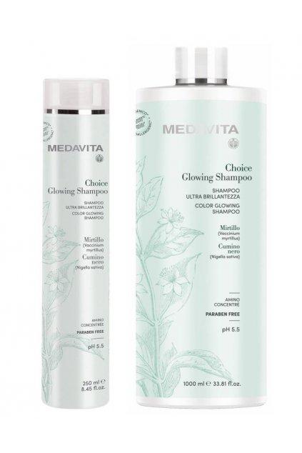 Medavita CHOICE Color Glowing Šampon pro zvýraznění lesku a výživu vlasů