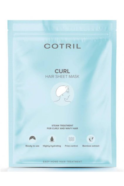 Cotril CURL Maska čepička, jednorázová, výživa a hydratace pro vlnité vlasy 35g