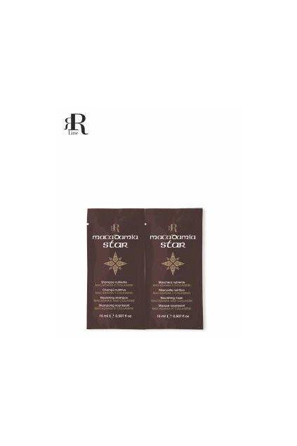 RR Line MACADAMIA STAR šampon a maska vyživující namáhané vlasy 2x15ml