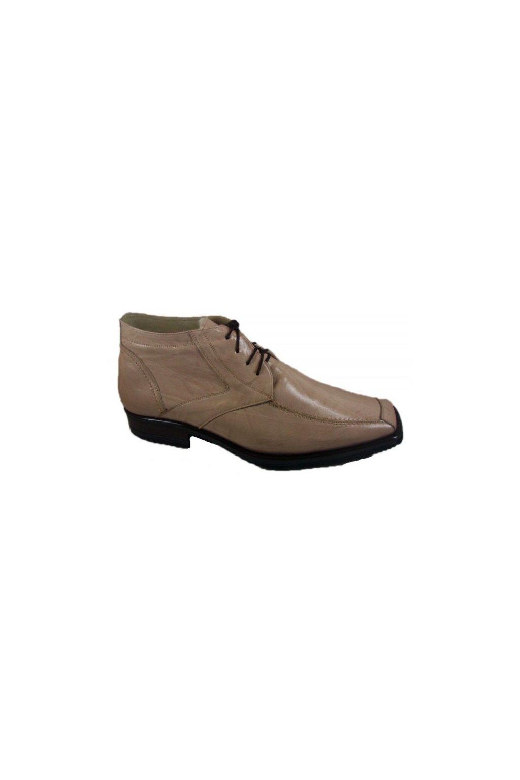 Nadměrná pánská obuv Češvár MZ kožich béžová