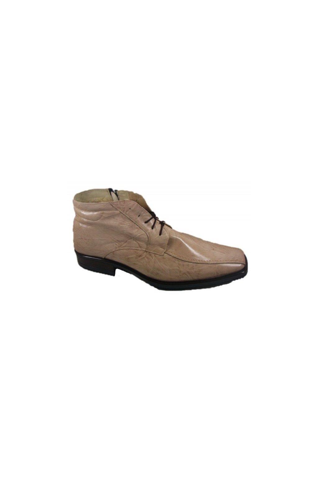 Nadměrná pánská obuv Češvár MZ zip béžová