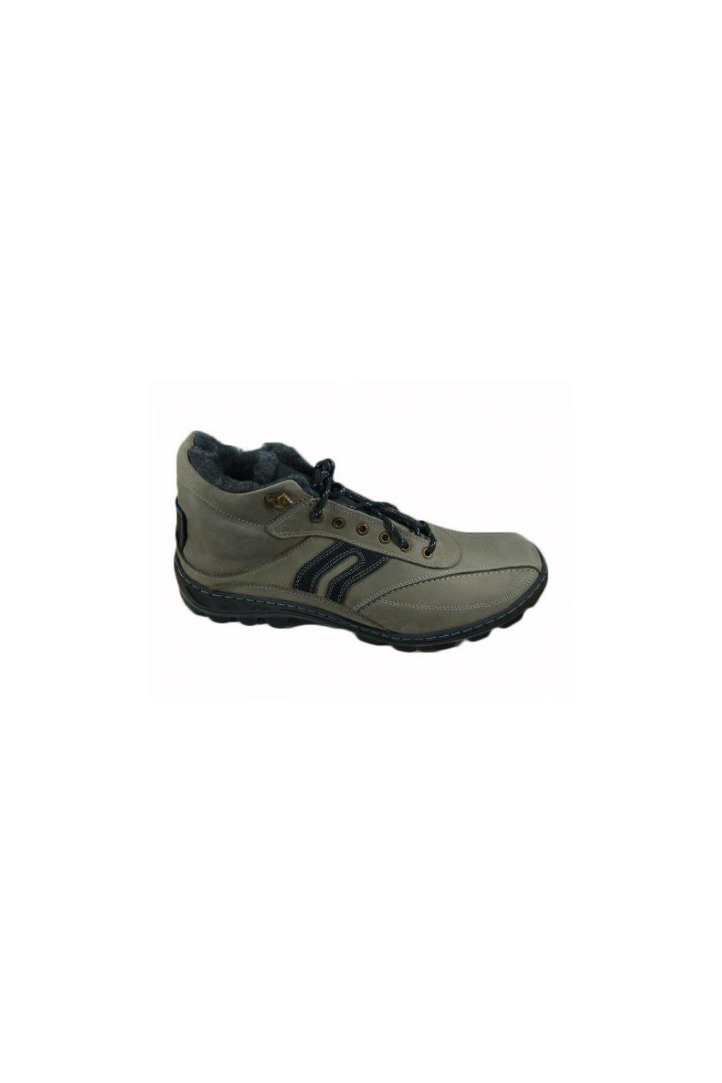 Nadměrná pánská obuv Laser L58zN5 šedá