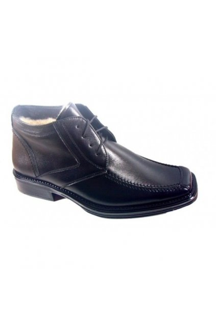Podměrná pánská obuv Češvár MZ kožich černá