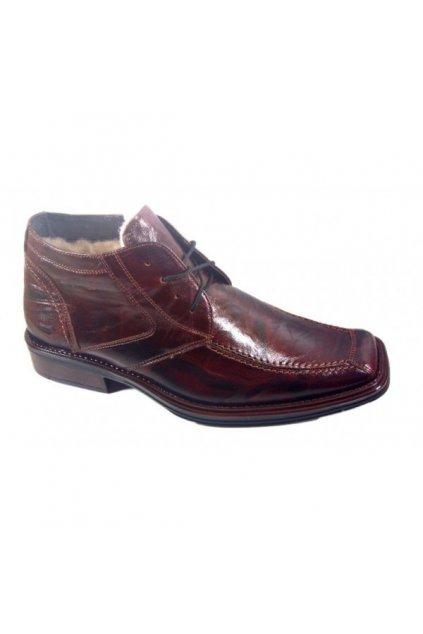 Podměrná pánská obuv Češvár MZ kožich hnědá