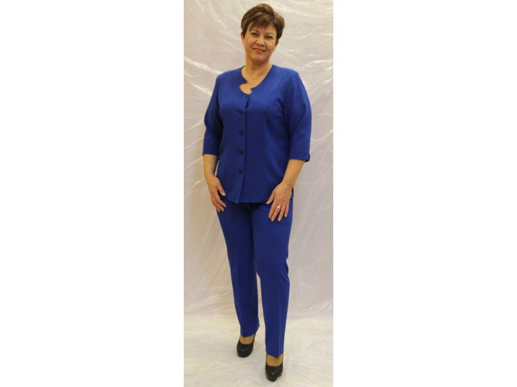 Kostým kalhotový modrý