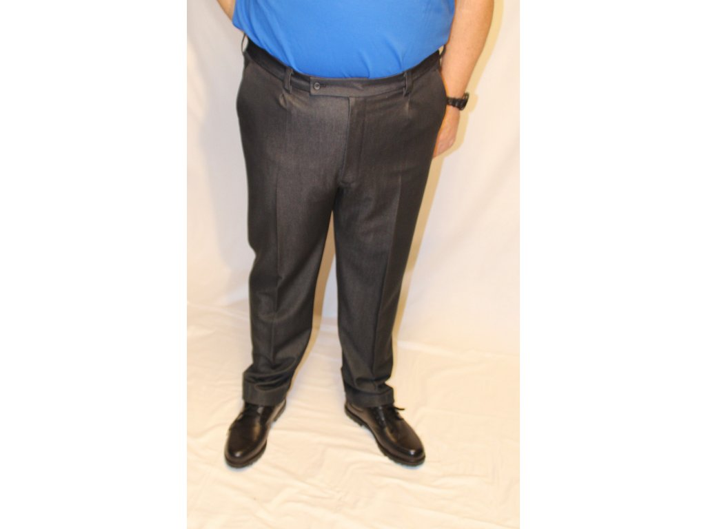 Kalhoty elegantní tmavé