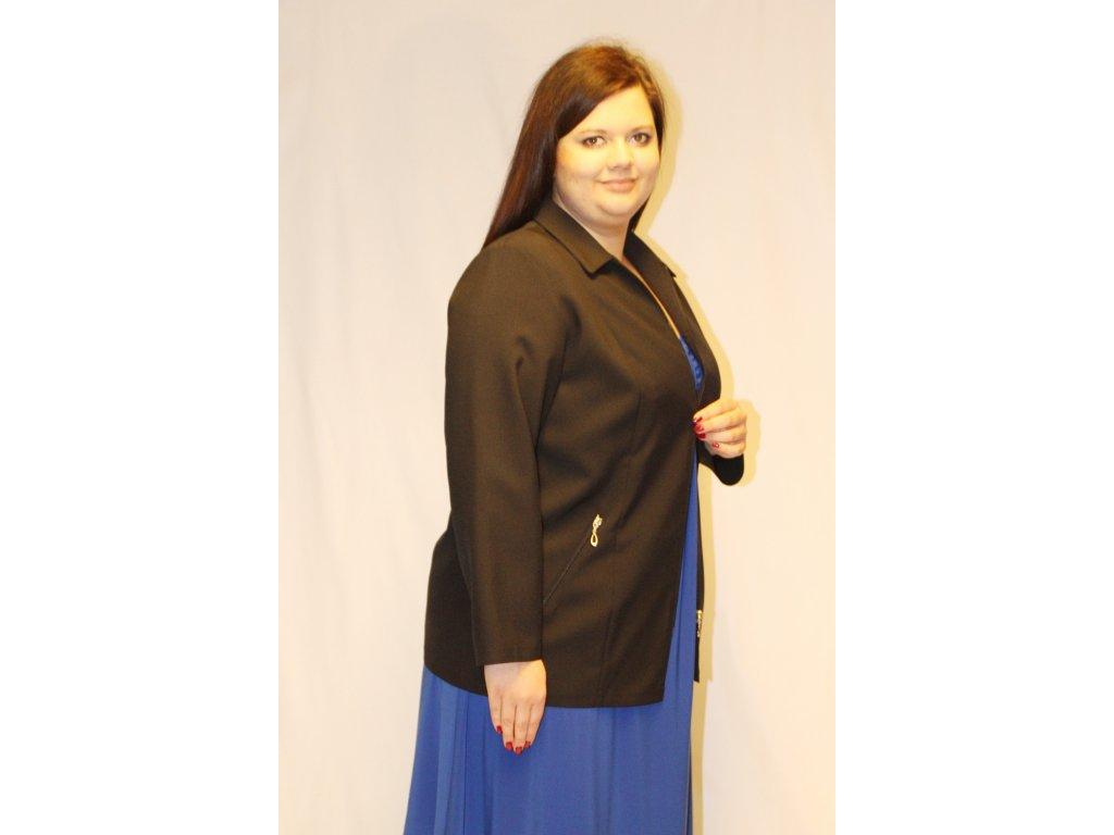 Sako černé na zip