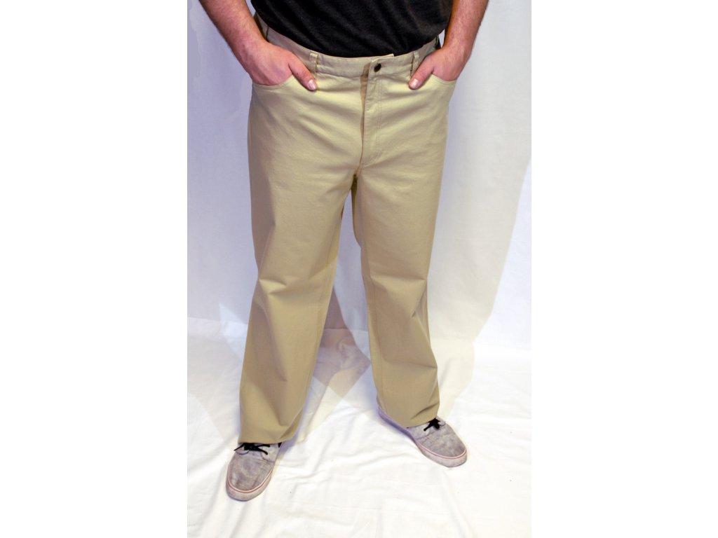 Kalhoty světlé z bavlny