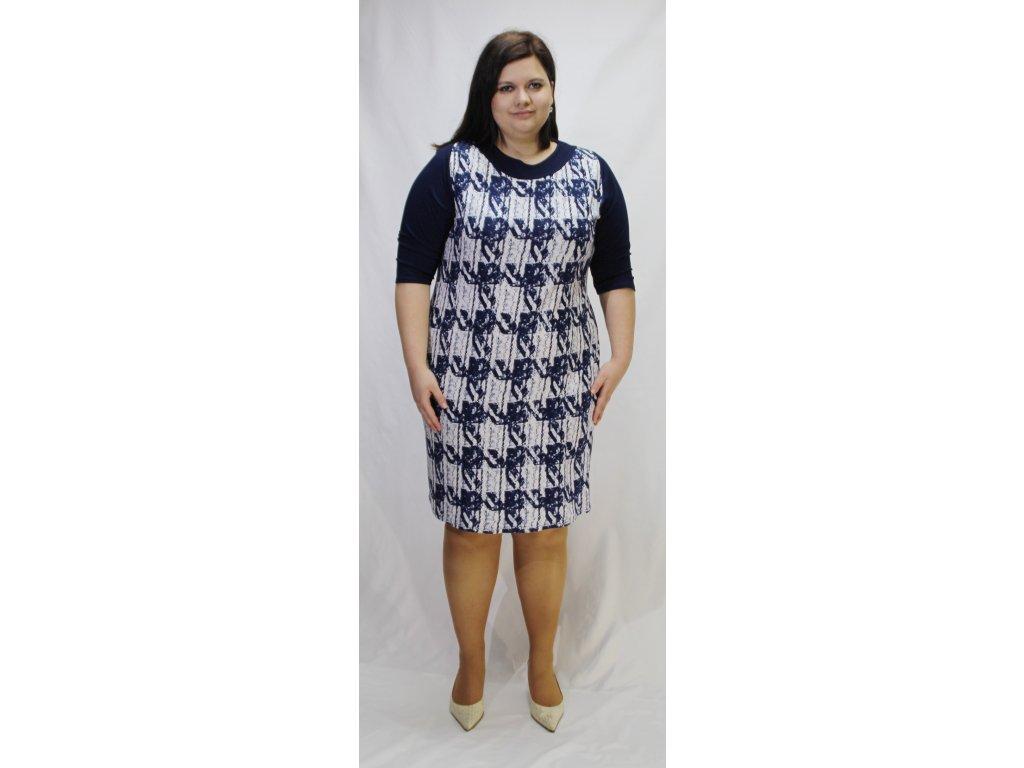 Šaty modro-bílé