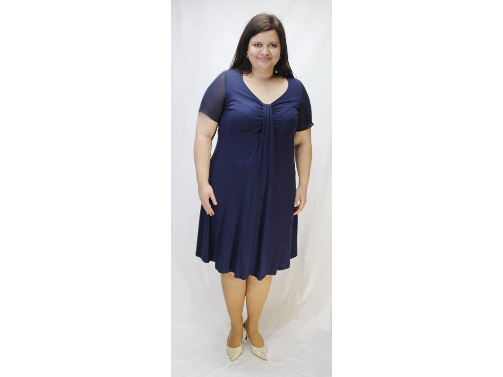 Šaty úpletové tmavě modré