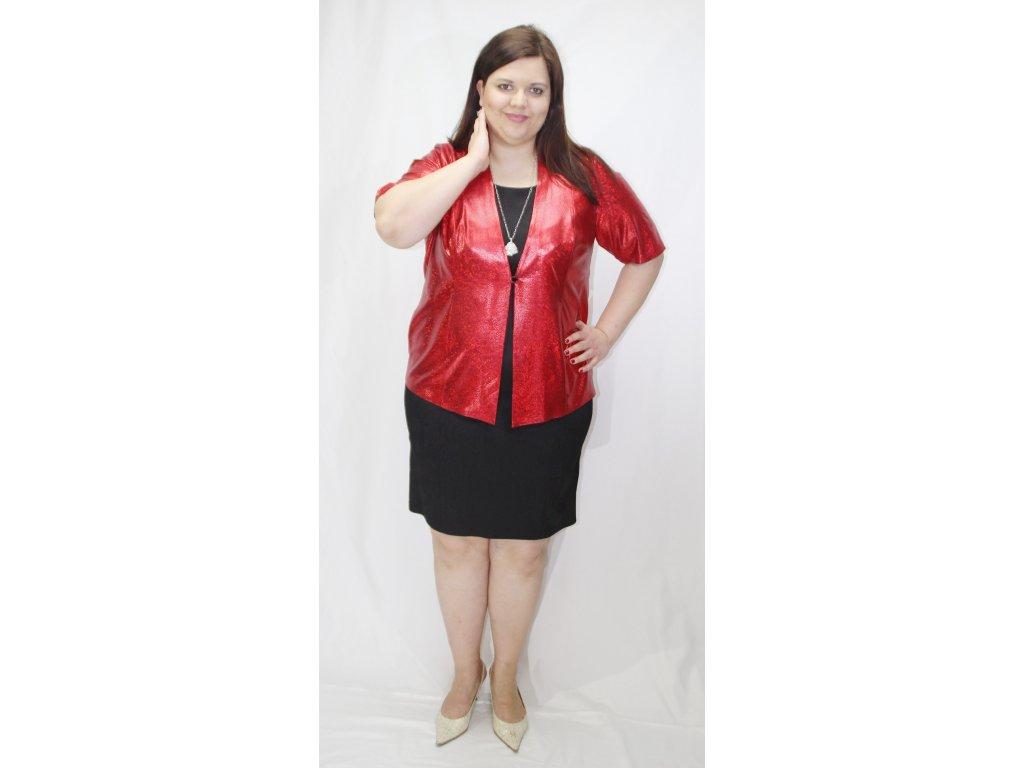 Kabátek, přehoz společenský červený