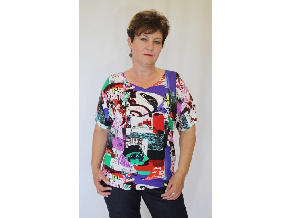 Halenka, tričko barevné