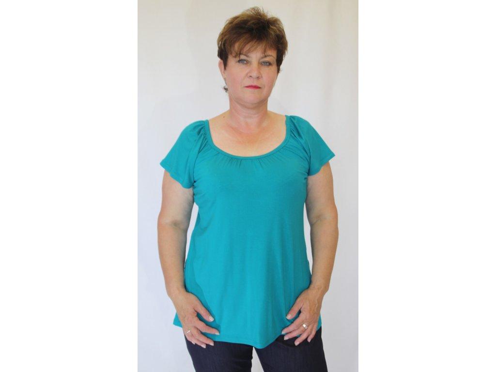 Dámská halenka, tričko mořská zeleň
