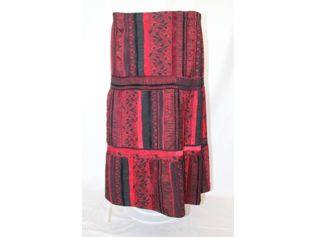 Sukně kanýrová červeno-černá