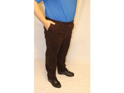Kalhoty hnědé manžestrové