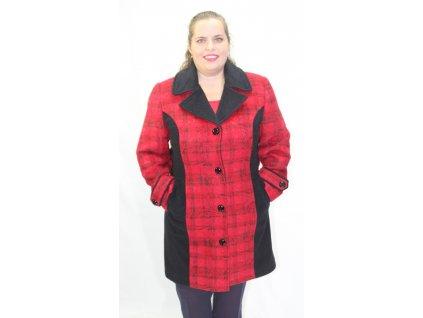 Kabátek,paletko zimní červeno-černé
